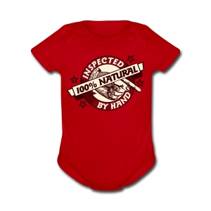 100% Natural Inspected by Hand - Short Sleeve Baby Bodysuit