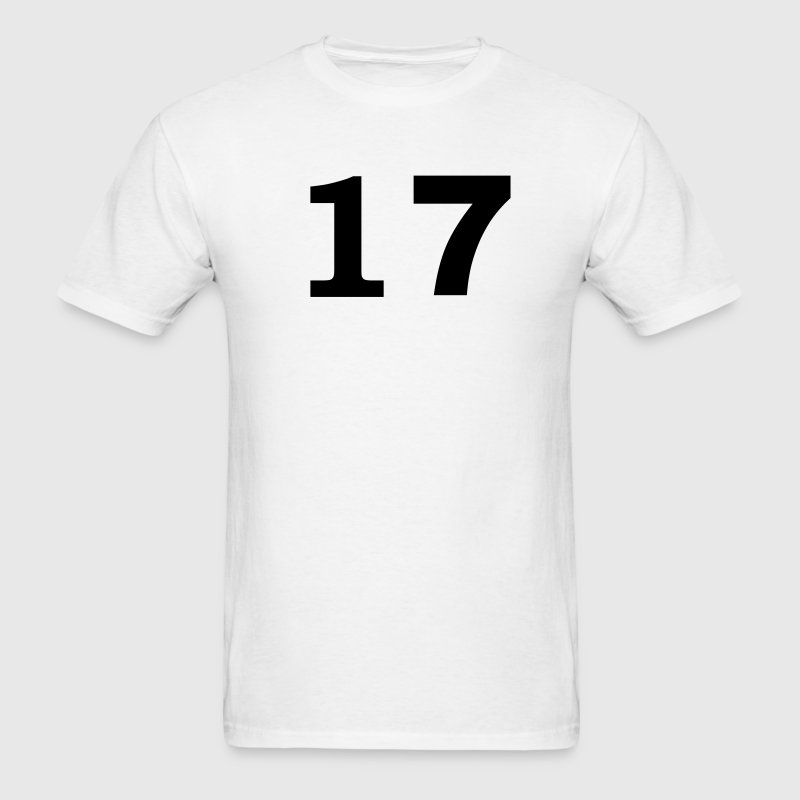 White number - 17 -seventeen T-Shirts - Men's T-Shirt