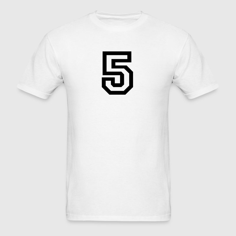 White number - 5 - five T-Shirts - Men's T-Shirt