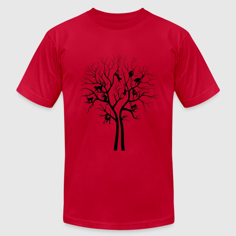 Light blue Monkey Tree T-Shirts - Men's T-Shirt by American Apparel