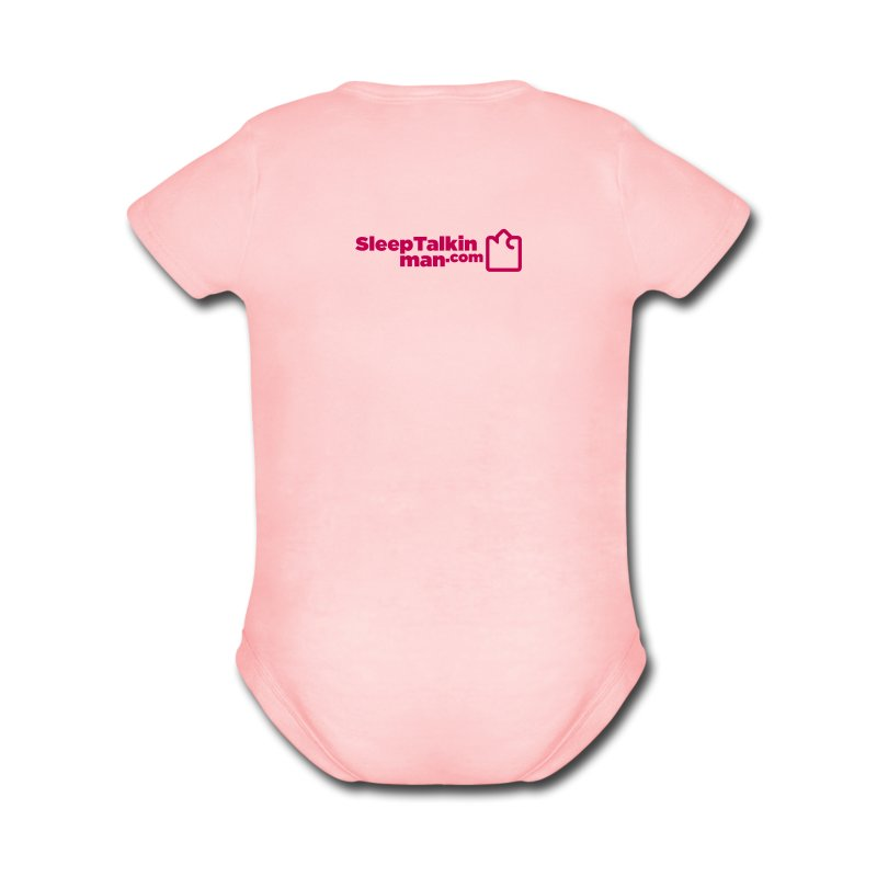 BABY GIRL: Perfection on two legs - Short Sleeve Baby Bodysuit