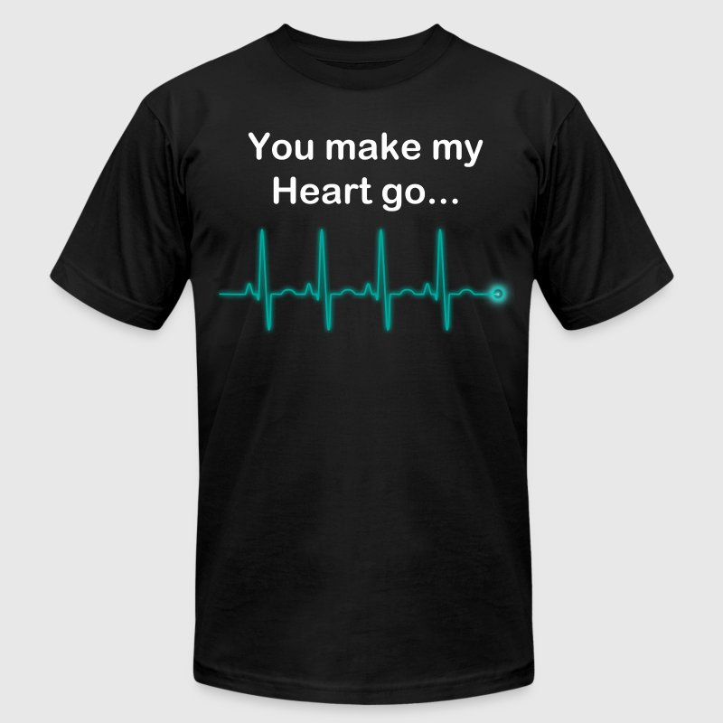 Cardiogram T-Shirts - Men's T-Shirt by American Apparel