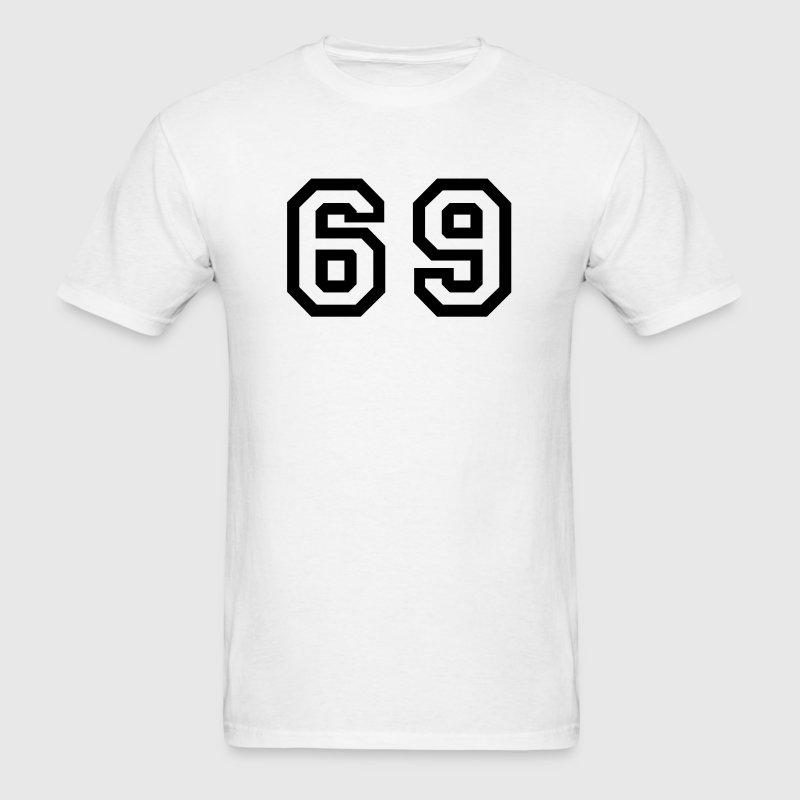White Number - 69 T-Shirts - Men's T-Shirt