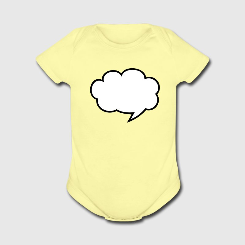 Lemon cool speech bubble something to say write your own Baby Body - Short Sleeve Baby Bodysuit