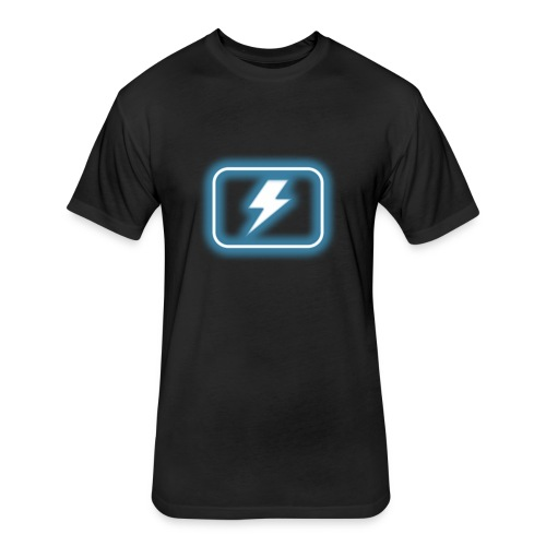 blur: Shock Power-up - Fitted Cotton/Poly T-Shirt by Next Level