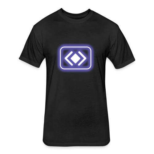 blur: Barge Power-up - Fitted Cotton/Poly T-Shirt by Next Level
