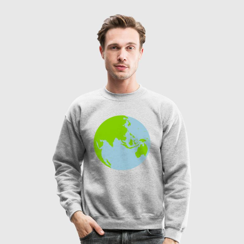 Heather grey A WORLD GLOBE central asia australia and singapore malaysia Long Sleeve Shirts - Crewneck Sweatshirt