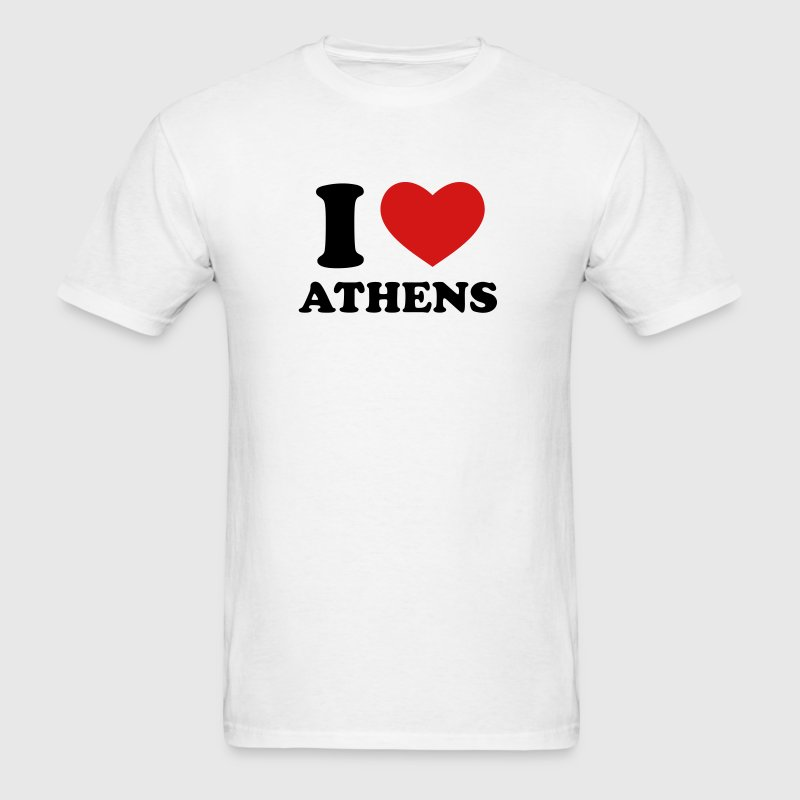 White I Love Athens T-Shirts - Men's T-Shirt