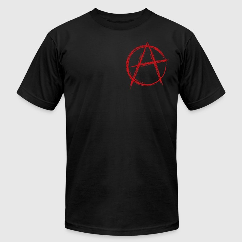 Black anarchy symbol T-Shirts - Men's T-Shirt by American Apparel
