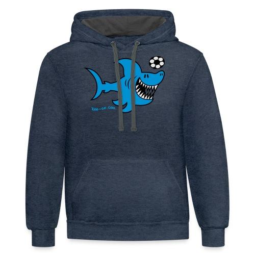 Shark Attacks - Contrast Hoodie