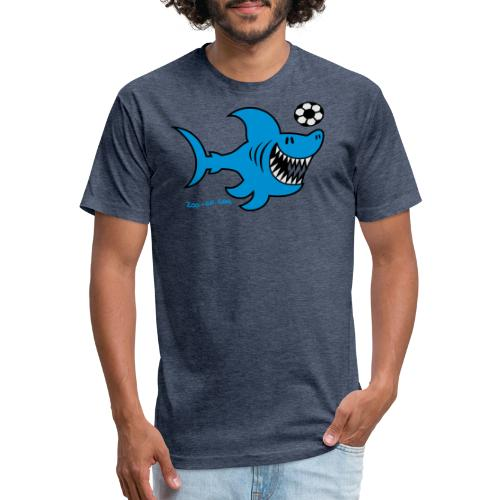 Shark Attacks - Fitted Cotton/Poly T-Shirt by Next Level