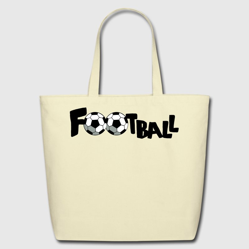 Creme SOCCER FOOTBALL sports word Bags  - Eco-Friendly Cotton Tote