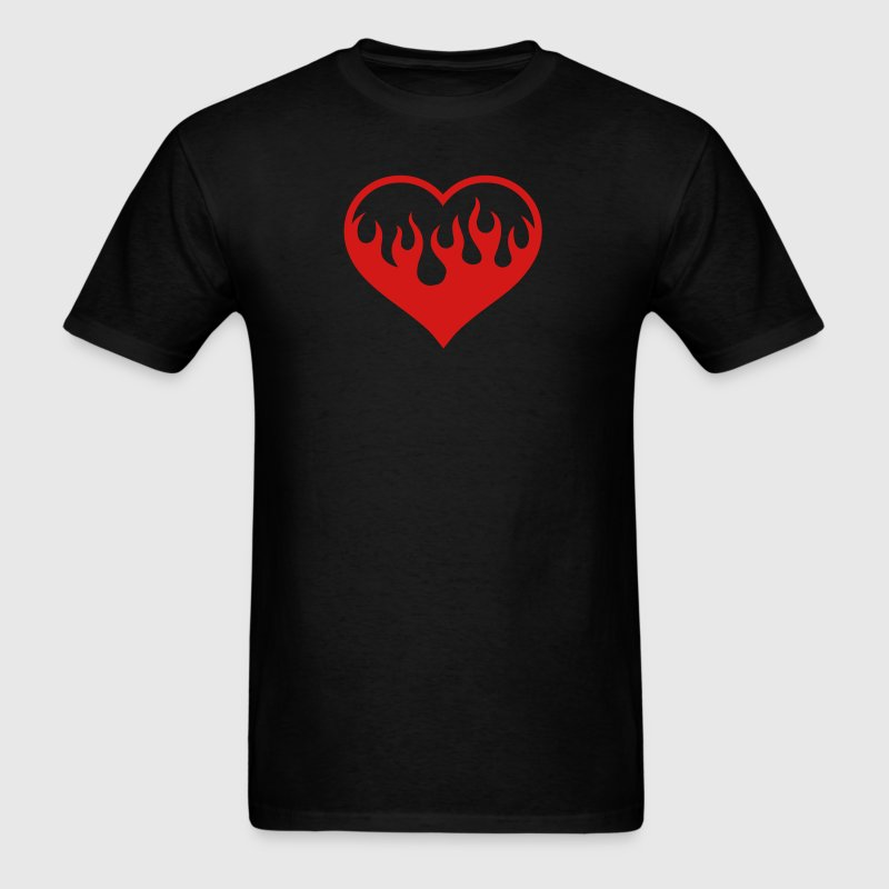 Black Flaming Heart T-Shirts - Men's T-Shirt