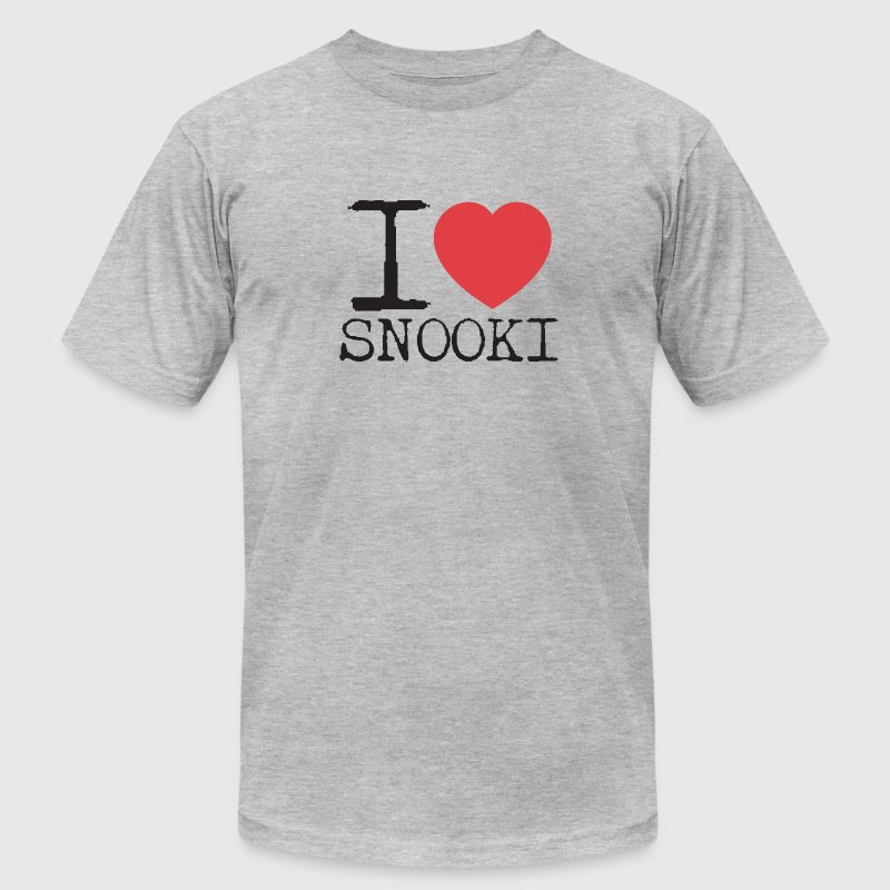 I Love Snooki T-Shirts - Men's T-Shirt by American Apparel