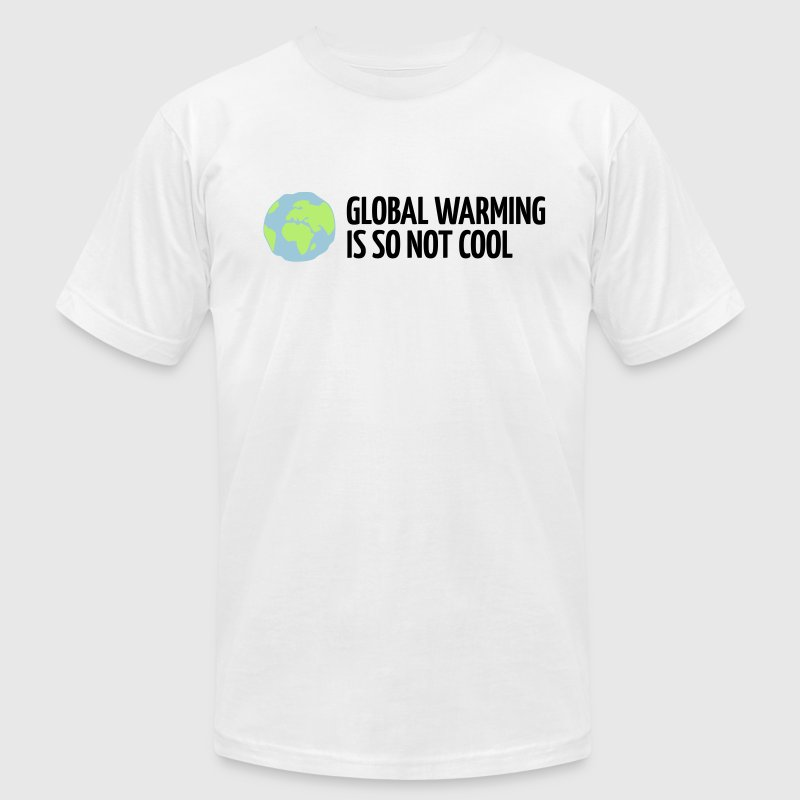 White Global Warming is not Cool (3c) T-Shirts - Men's T-Shirt by American Apparel
