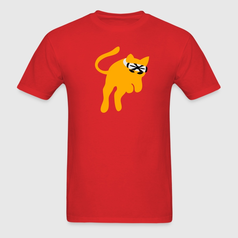 Red Don't mess with the KARATE kung-fu CAT T-Shirts - Men's T-Shirt