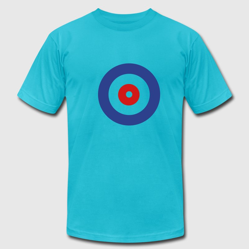Turquoise Curling T-Shirts - Men's T-Shirt by American Apparel