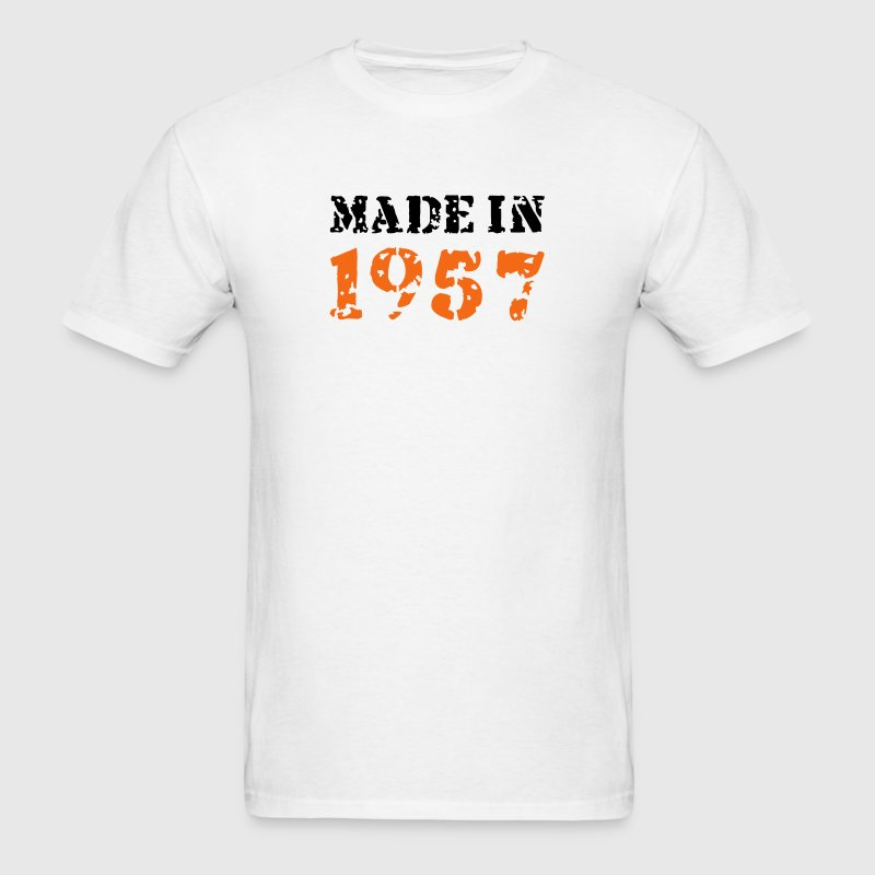 White Made in 1957 T-Shirts - Men's T-Shirt