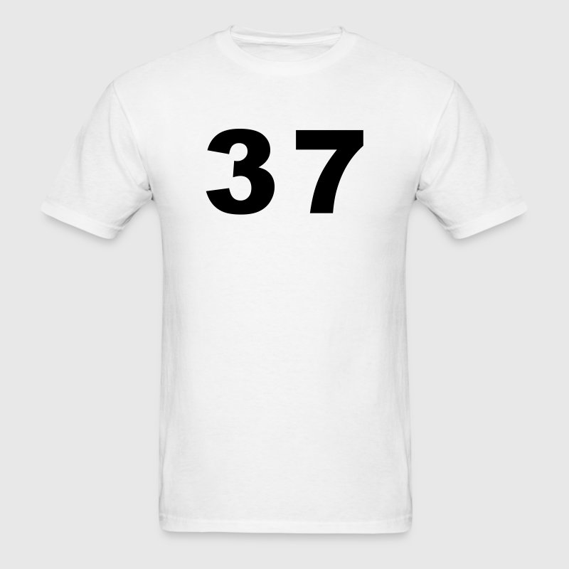 White Number - 37 - Thirty Seven T-Shirts - Men's T-Shirt