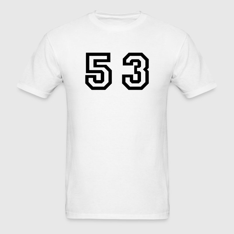 White Number - 53 - Fifty Three T-Shirts - Men's T-Shirt
