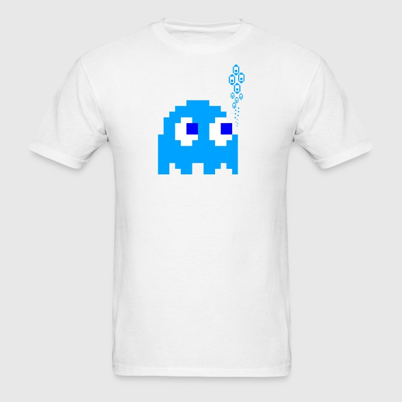 White Blue Ghost T-Shirts - Men's T-Shirt