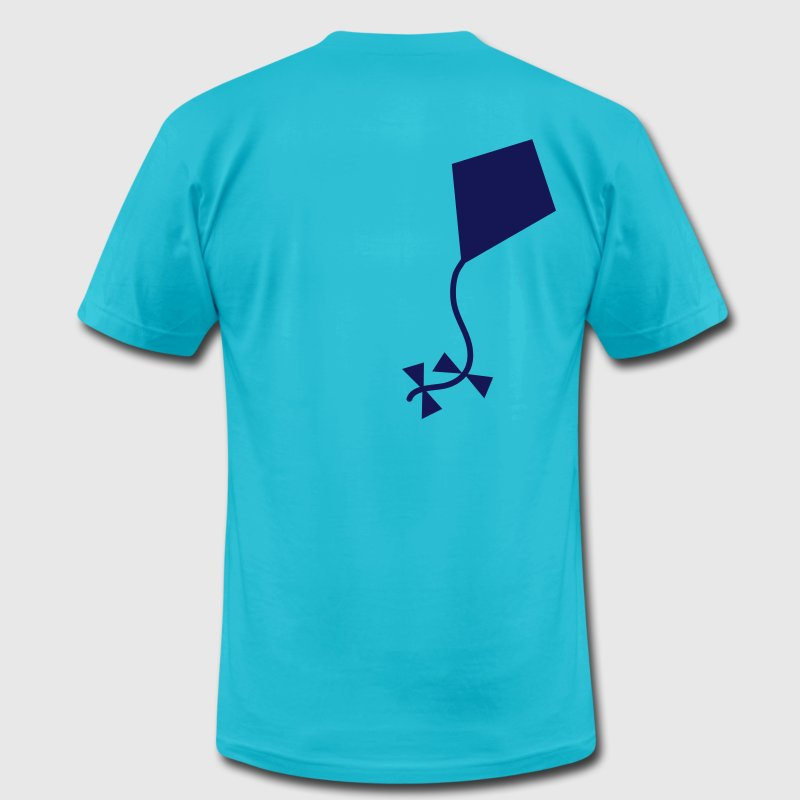 Turquoise A one color KITE T-Shirts - Men's T-Shirt by American Apparel