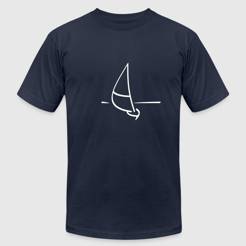 Navy Sailboat T-Shirts - Men's T-Shirt by American Apparel