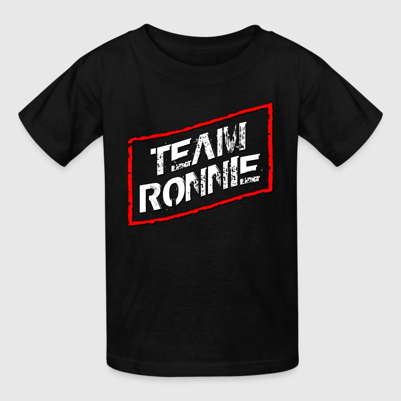 Black Team Ronnie Jersey Shore Kids' Shirts - Kids' T-Shirt