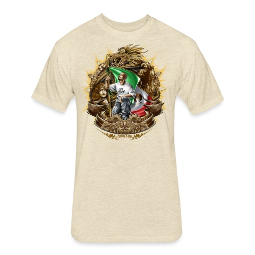 Cholo Collage - Fitted Cotton/Poly T-Shirt by Next Level