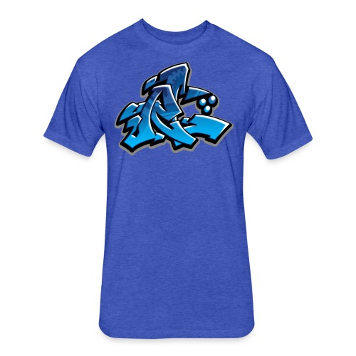 Graffiti Rollin Low - Fitted Cotton/Poly T-Shirt by Next Level