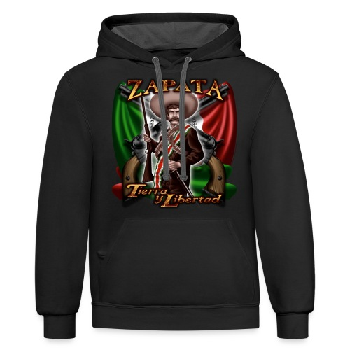 Zapata Flag - Contrast Hoodie