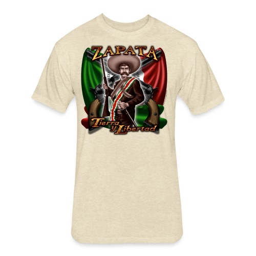 Zapata Flag - Fitted Cotton/Poly T-Shirt by Next Level