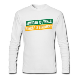 Einhorn is Finkle! Finkle is Einhorn! - Men's Long Sleeve T-Shirt by Next Level