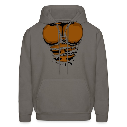 Ripped Muscles, six pack, chest T-shirt - Men's Hoodie