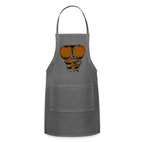 Ripped Muscles, six pack, chest T-shirt - Adjustable Apron