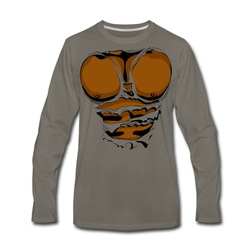 Ripped Muscles, six pack, chest T-shirt - Men's Premium Long Sleeve T-Shirt