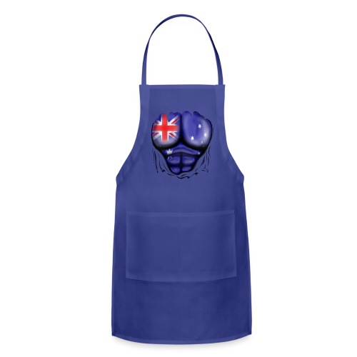 Australia Flag Ripped Muscles, six pack, chest t-shirt - Adjustable Apron