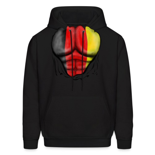 Germany Flag Ripped Muscles, six pack, chest t-shirt - Men's Hoodie