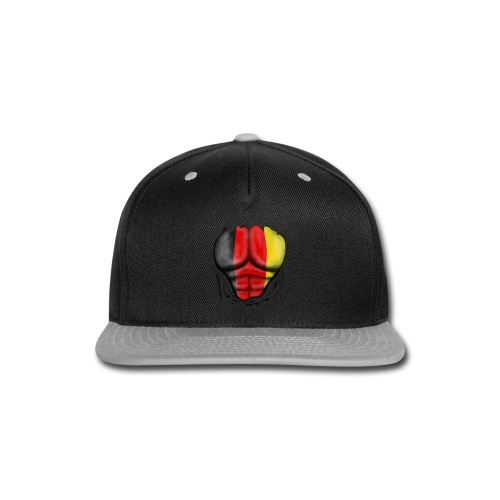 Germany Flag Ripped Muscles, six pack, chest t-shirt - Snap-back Baseball Cap