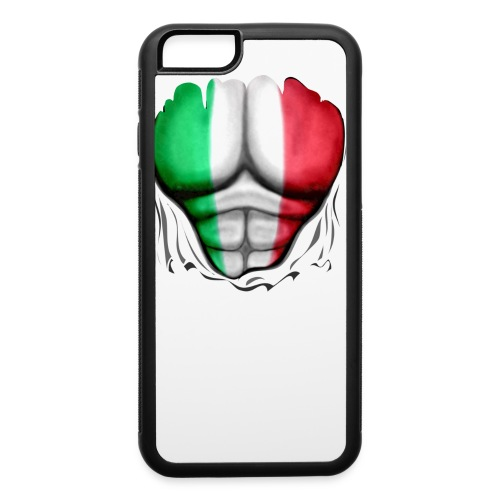 Mexico Flag Ripped Muscles, six pack, chest t-shirt - iPhone 6/6s Rubber Case