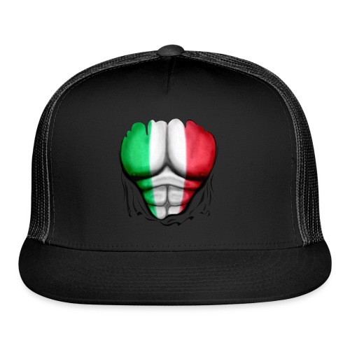 Mexico Flag Ripped Muscles, six pack, chest t-shirt - Trucker Cap