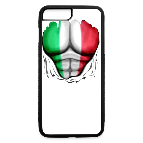 Mexico Flag Ripped Muscles, six pack, chest t-shirt - iPhone 7 Plus/8 Plus Rubber Case