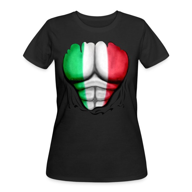 Mexico Flag Ripped Muscles, six pack, chest t-shirt