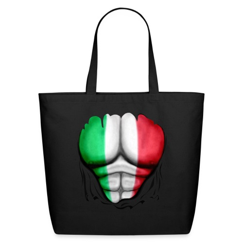Mexico Flag Ripped Muscles, six pack, chest t-shirt - Eco-Friendly Cotton Tote