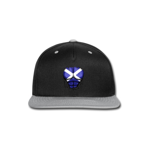 Scotland Flag Ripped Muscles, six pack, chest t-shirt - Snap-back Baseball Cap