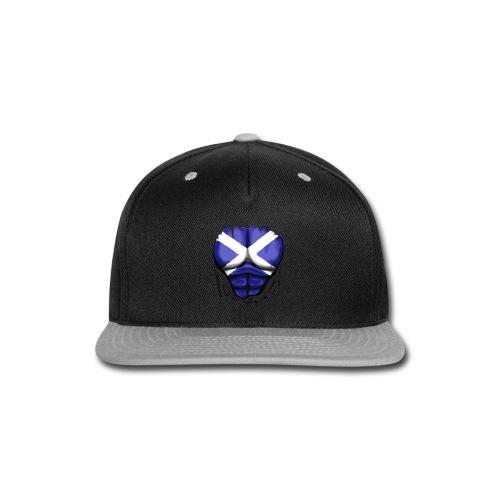 Scotland Flag Ripped Muscles, six pack, chest t-shirt - Snap-back Baseball Cap