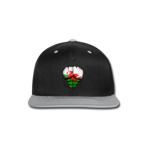 Wales Flag Ripped Muscles, six pack, chest t-shirt - Snap-back Baseball Cap