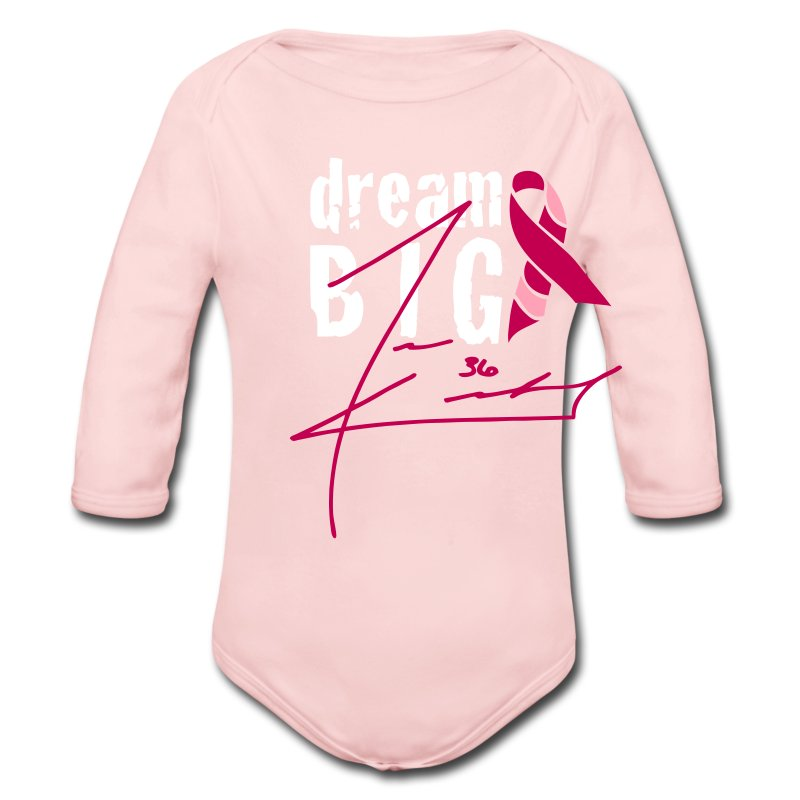 Dream Big For Breast Cancer Awareness Baby - Long Sleeve Baby Bodysuit