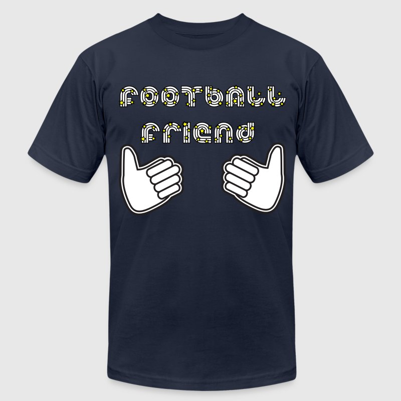 Navy football friend T-Shirts - Men's T-Shirt by American Apparel