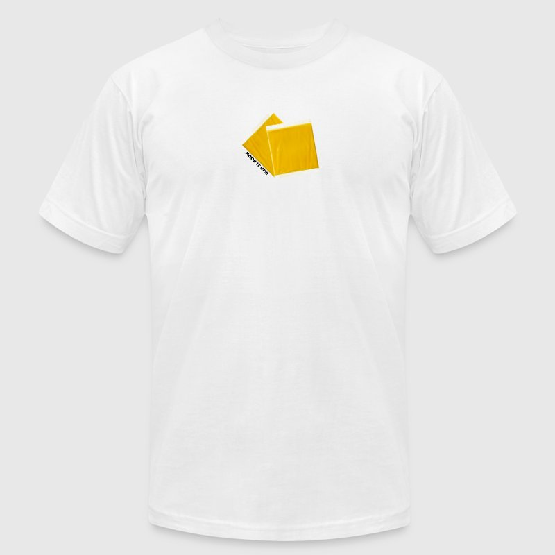 White Two Pieces of Cheese Hook it Up! T-Shirts - Men's T-Shirt by American Apparel